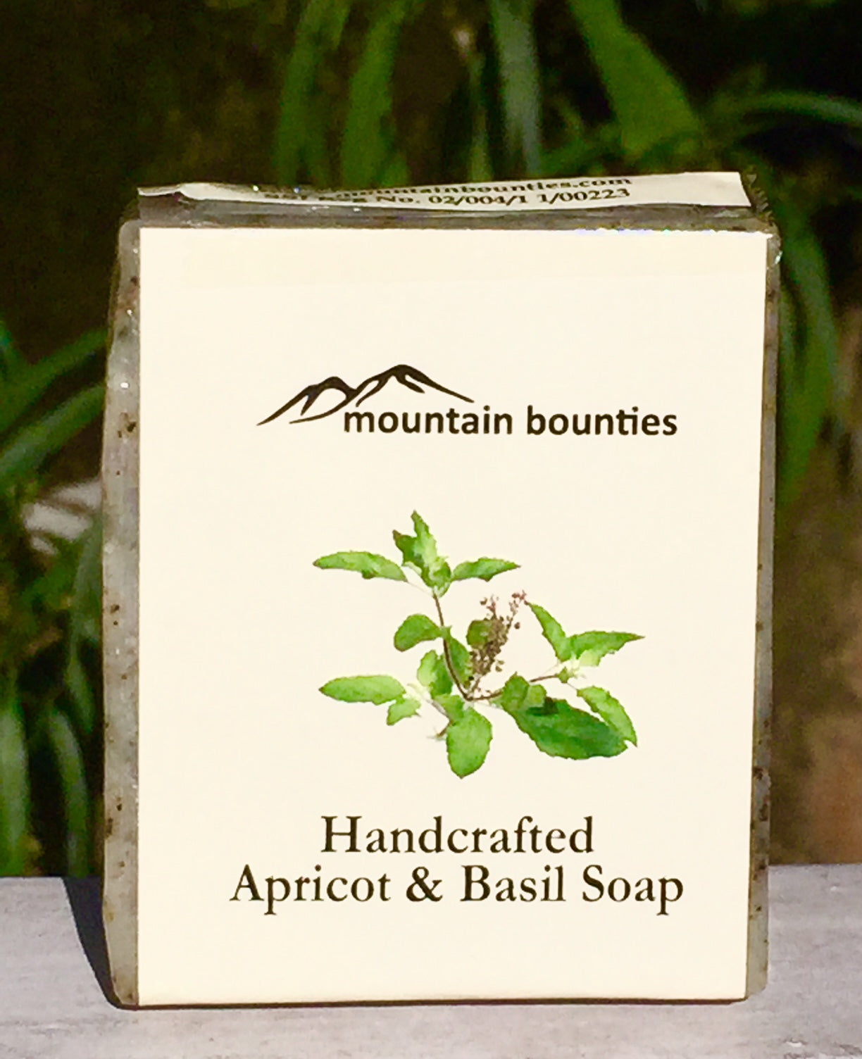 Apricot Soap, Basil Soap, 100% Handmade, Cold Pressed