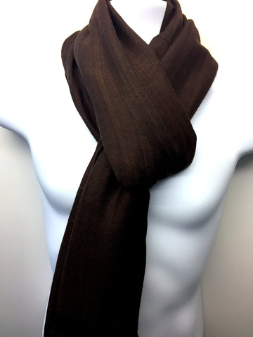 Pure 100% Wool, Deep Brown, Stole