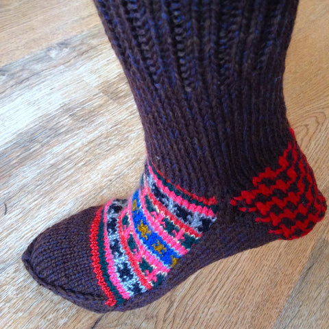 Woolen Socks, Deep Brown Rosewood