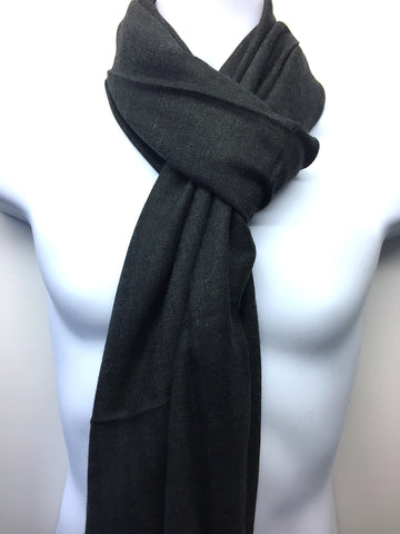 Pure 100% Wool, Slate Grey, Stole