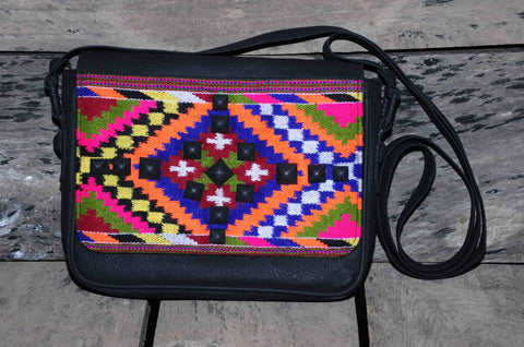 Hand Bag Small Traditional Himalayan Pattern on Faux leather