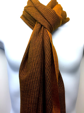 Pure 100% Wool, Light Gold, Soft Pattern Stole