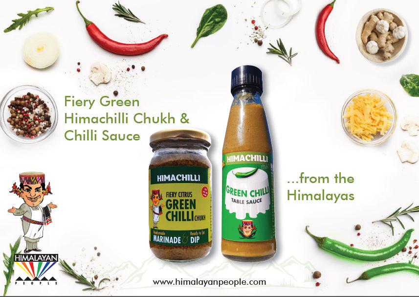 Himachilli Fiery Green Chukh and Sauce Set