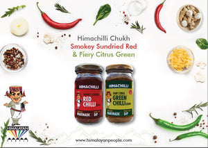 *SAVER*  SMOKEY RED & FIERY GREEN HIMACHILLI (2*200 gms)