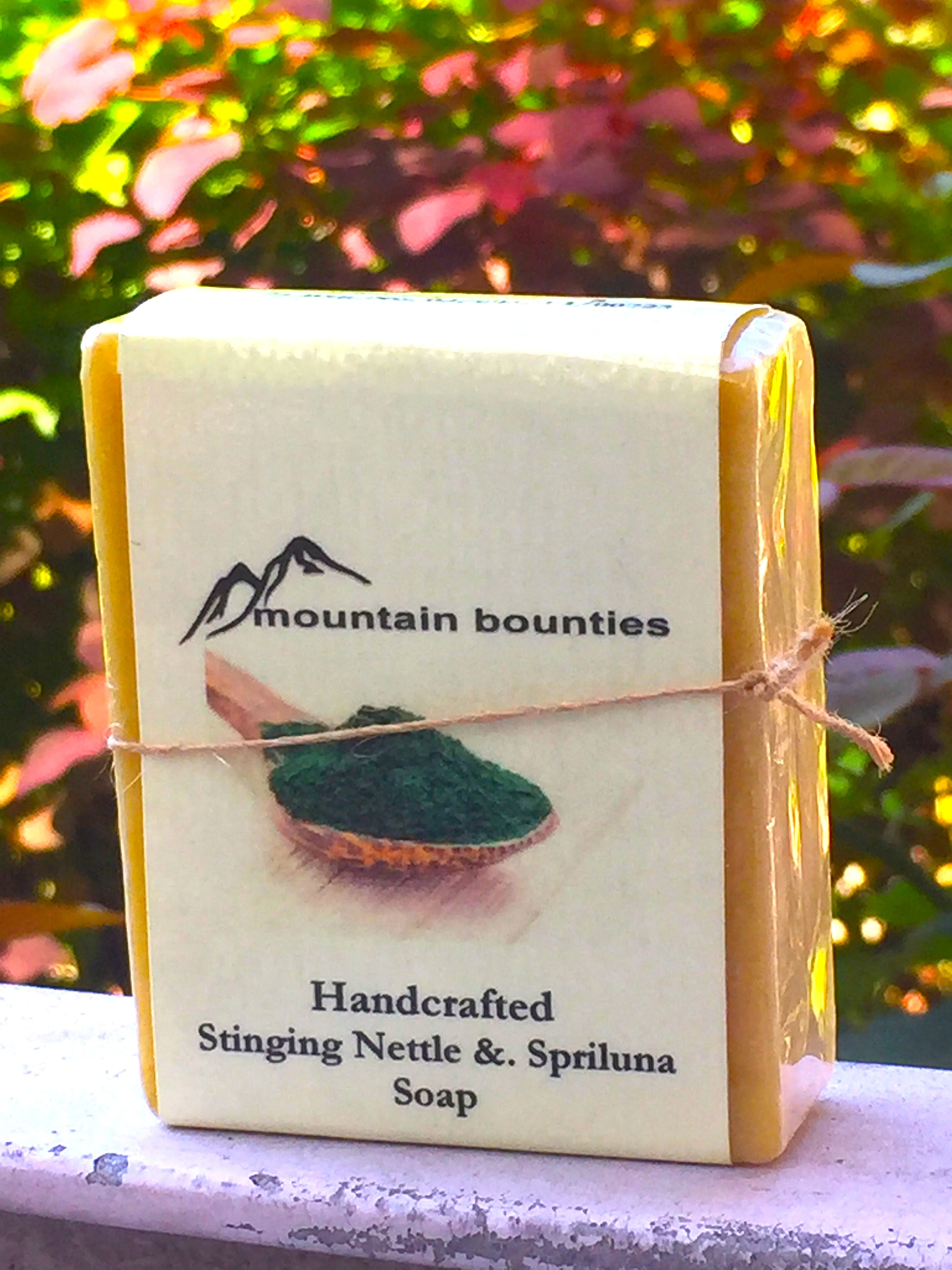 Handmade Stinging Nettle & Spirulina Soap, handmade cold pressed, 100% natural, 100% Handmade, Cold Pressed, herbal soap, cold pressed, Handmade, 100% Natural, Moisturising for face, hands and hair, Recommended for prematurely aged skin, sensitive, inflamed and dry skin. Cold pressed, 100% natural, handmade, Natural Skin Care, Natural oils, Skin Care, Himachal Oils, Himalayan Salt, Mountain Bounties, Himalayan people Care
