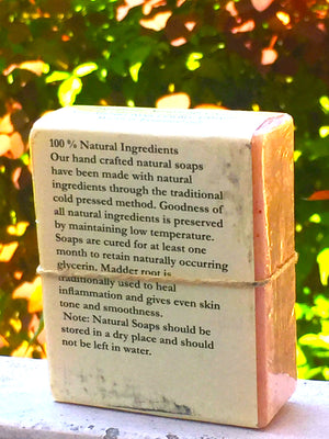 Madder Root Soap, 100% Handmade, Cold Pressed, herbal soap, cold pressed, Handmade, 100% Natural, Moisturising for face, hands and hair, Recommended for prematurely aged skin, sensitive, inflamed and dry skin. Cold pressed, 100% natural, handmade, Natural Skin Care, Natural oils, Skin Care, Himachal Oils, Himalayan Salt, Mountain Bounties, Himalayan people Care
