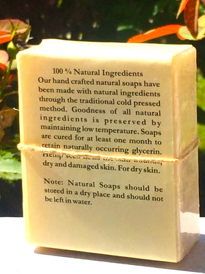 100% natural Cold Pressed Apricot & Basil Soap