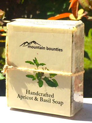 Handcrafted Apricot And Basil Soap