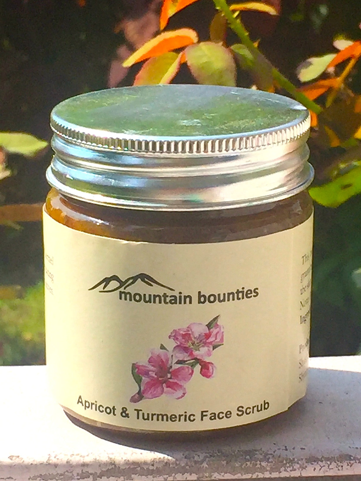 Apricot & Turmeric Face Scrub. Turmeric Apricot face scrub. Exfoliating. Natural, Handmade in Himachal