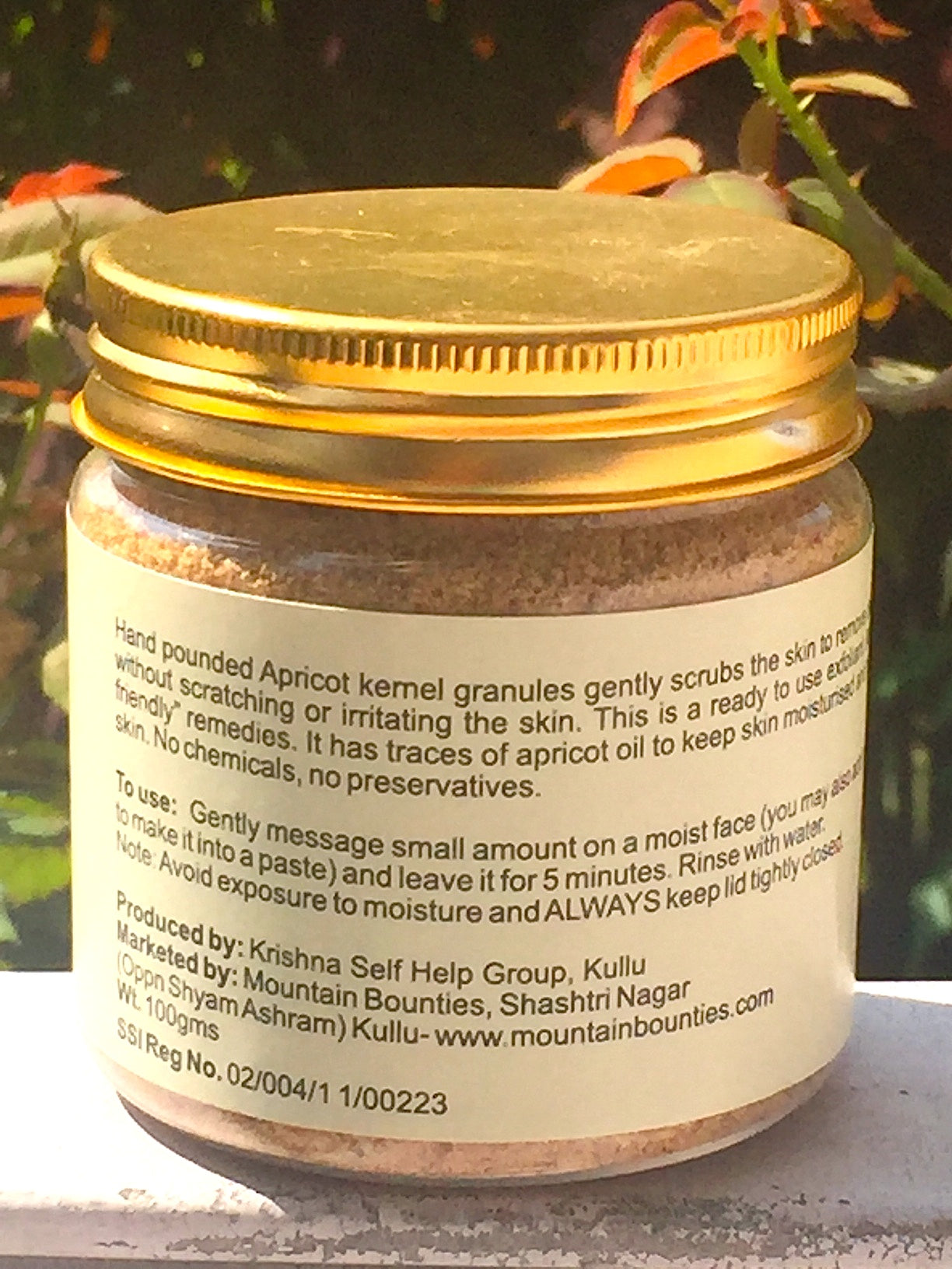 Handmade Apricot Facial Scrub from Himachal.