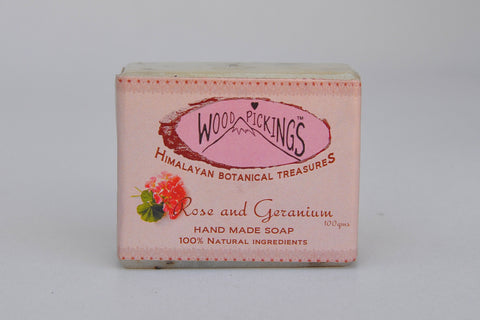 Rose and Geranium Herbal Soap