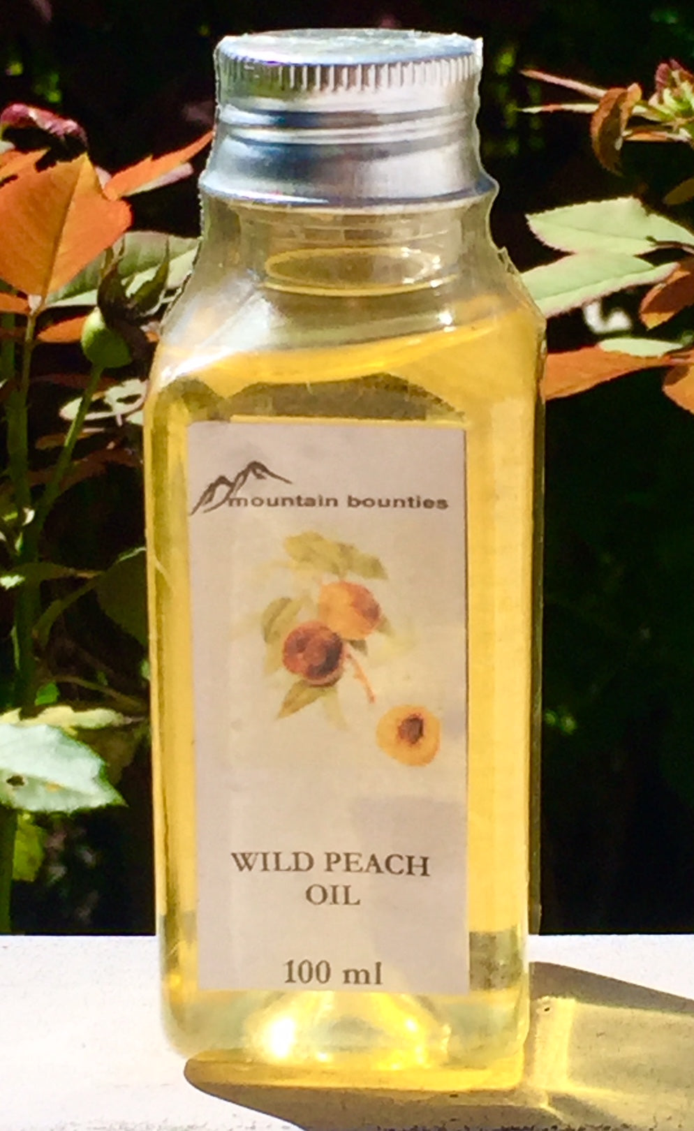 Wild Peach oil is an excellent softener and moisturizer for face, hands and hair. Well known therapeutic body massage oil. Recommended for prematurely aged, sensitive, inflamed and dry skin. Cold pressed oil from Peach kernels. Body Oil, 100% natural, handmade, Natural oils, Skin Care, Himachal Oils, Himalayan Salt, Mountain Bounties, Himalayan people Care, Essential oils, Cold Pressed oils, Moisturising oils, Moisturising creams