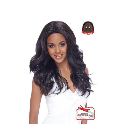 4X4 MULTI PARTING LACE WIG, SWISS SILK BASE  NATURAL LOOSE WAVY