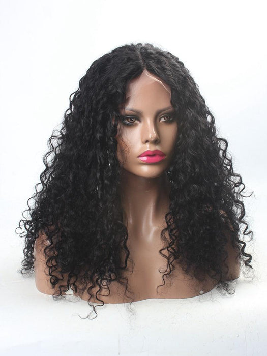 Natural wave curl 360 Lace Frontal Wig Pre Plucked With Baby Hair 220% Density Human Hair Wigs