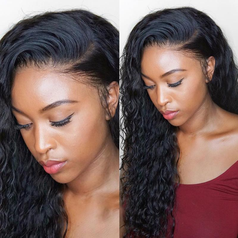 2019 winter new Virgin Hair Lux Water Wave with Lace Frontal