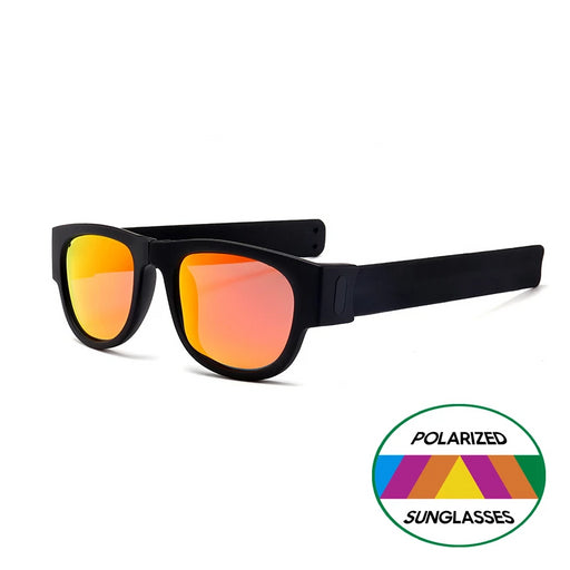 Novelty Mirror Men Polarized Folding Sunglasses New Arrival Slap Sport Foldable Wristband Shades 2019 Trend Product