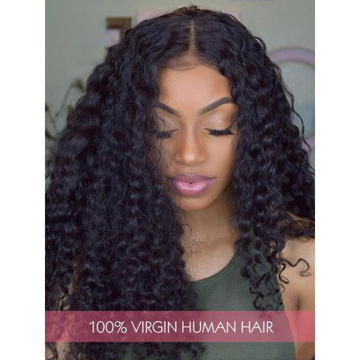 Brazilian Virgin Hair Lace Hair Wigs Women Deep Wave Hair Style