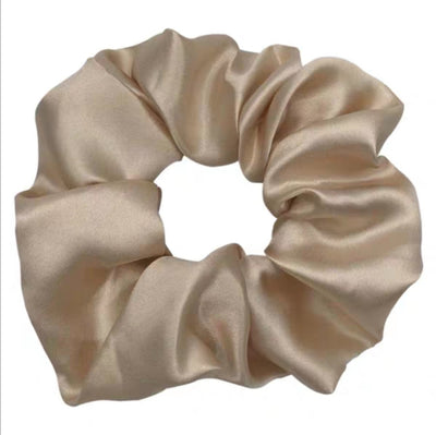 Silk Scrunchies | Beige White