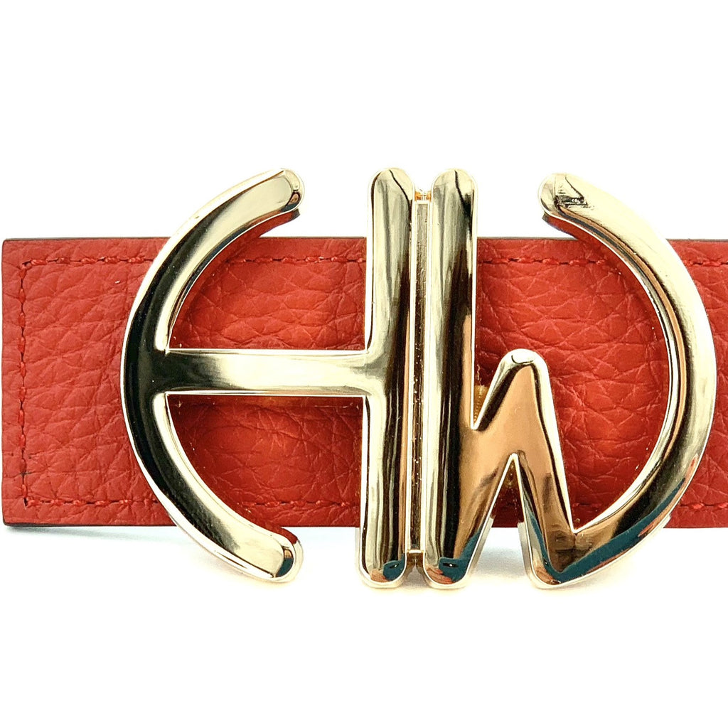 Diana-Red double sided belt