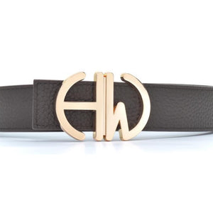 Diana-Coffee brown double sided belt