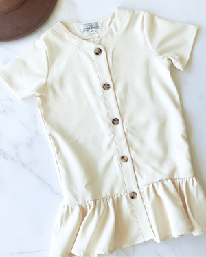 Ivory Ruffle Dress