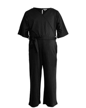Cassidy V-Neck Jumpsuit In Black