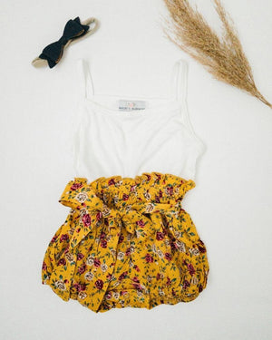 Blair Cami Romper - Yellow