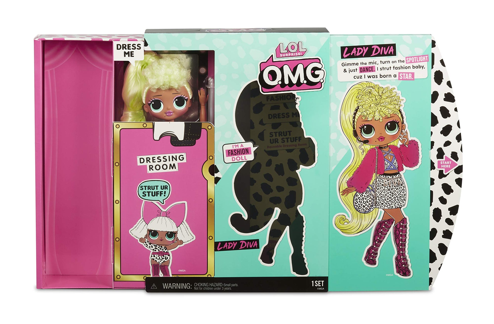 OMG Fashion Doll NEONLICIOUS L.O.L LOL Surprise Series 1 SHIPS FREE TODAY!