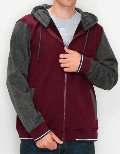 Burgundy Charcoal Heather