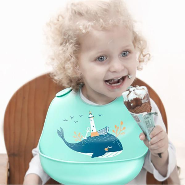 ⏰Limited time offer--Buy one get one free⏰Silicone Baby Bib