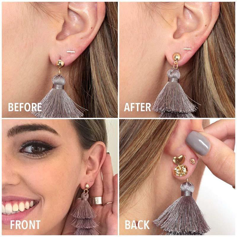 🌟Only $9.99🌟Hypoallergenic Earring Lifts(2 Pairs)