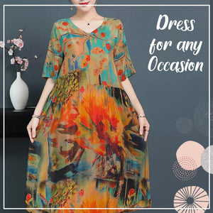 ⏰Limited time offer-40% OFF ⏰Luxury Genuine Silk Soft Dress
