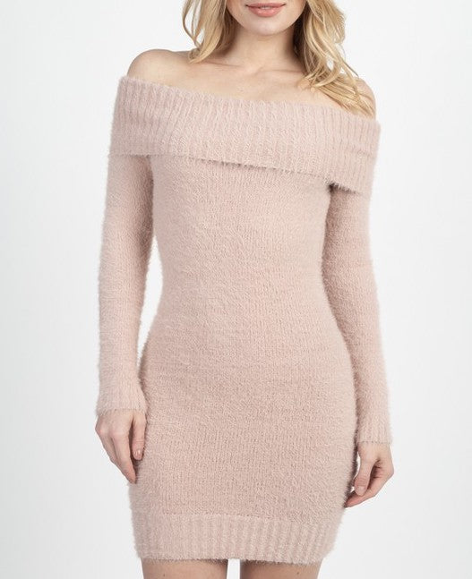 """Rose"" Off the shoulder dress"