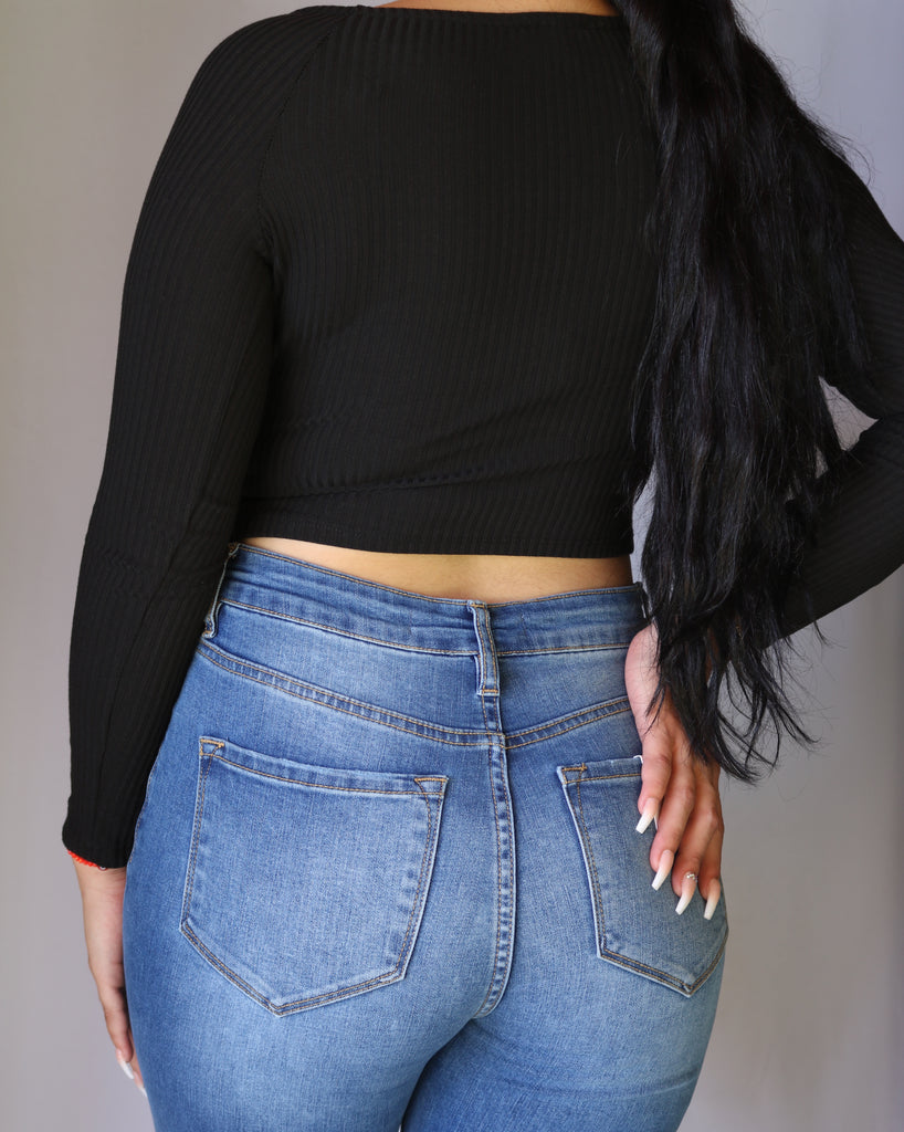 """Ali"" Wrap Style Crop Top"
