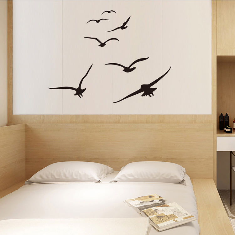 A Flock Of Seagulls Wall Decals Removable PVC Wall Stickers Silhouettes Of Birds Stick Back Vinyl Wall Decal Creative DIY Home Decor