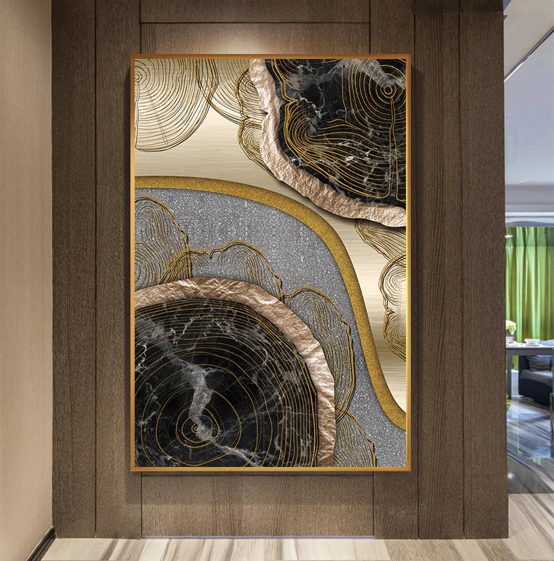 Abstract Biomorphic Elements Contemporary Wall Art Fine Art Canvas Prints Stylish Pictures For Office Living Room Modern Home Decor