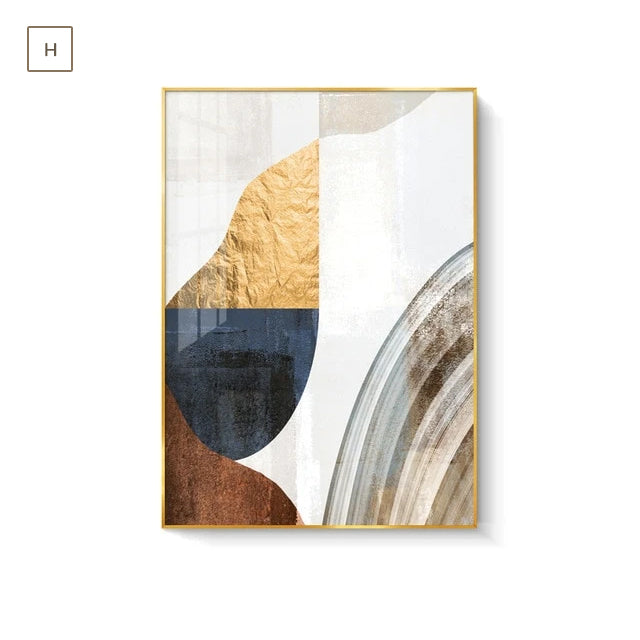 Abstract Elements Earthy Hues Wall Art Fine Art Canvas Prints Subtle Brown Beige Natural Golden Nordic Lifestyle Posters Luxury Loft Apartment Wall Art Decor