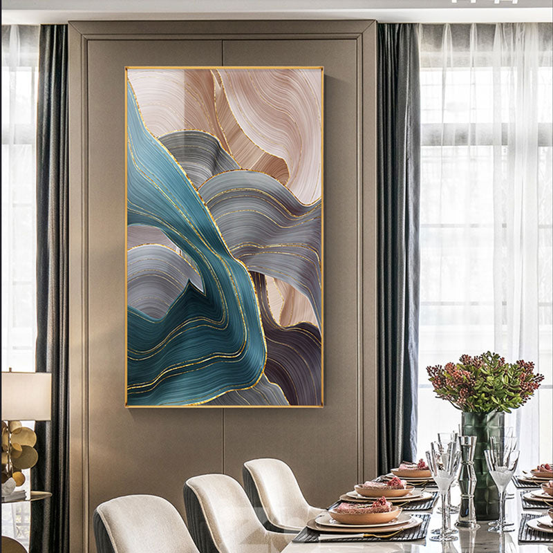 Abstract Flowing Ribbon Wall Art Fine Art Canvas Prints Large Format Pictures For Luxury Living Room Dining Room Loft Home Office Interior Art Decor