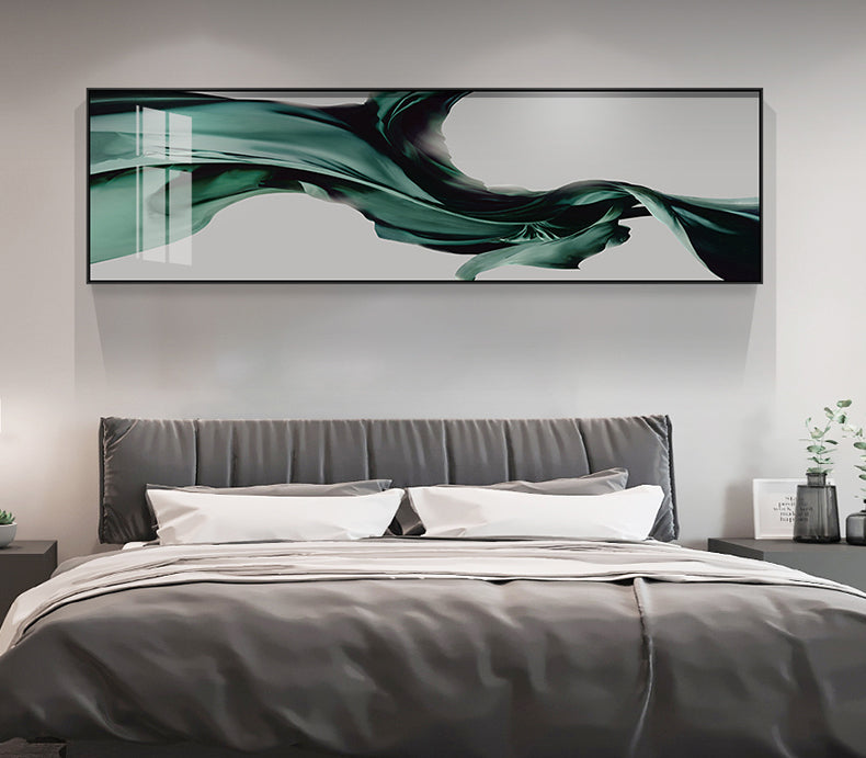 Abstract Flowing Silk Wide Format Wall Art Fine Art Canvas Prints Modern Pictures For Loft Apartment Living Room Above Sofa Wall Art Contemporary Home Decor