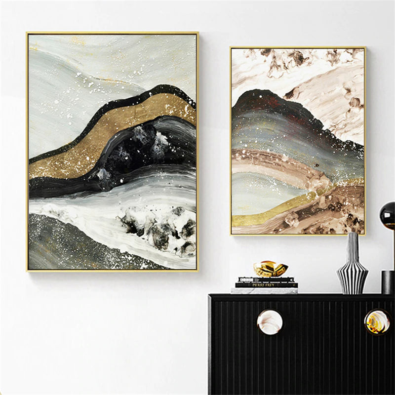 Abstract Geology Modern Wall Art Posters Fine Art Canvas Prints Contemporary Pictures For Office Living Room Home Interior Decor