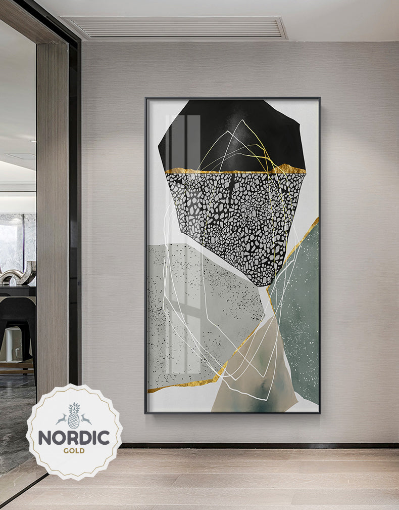Abstract Geomorphic Pebbles Contemporary Wall Art Agate Marble Design Fine Art Canvas Prints Modern Pictures For Office Living Room Stylish Home Decor