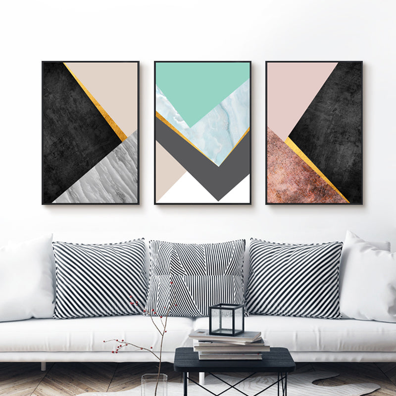 Abstract Modern Fine Art Wall Poster Giclee Prints Geometric Art Posters Canvas Paintings Wall Art For Living Room Home Decor