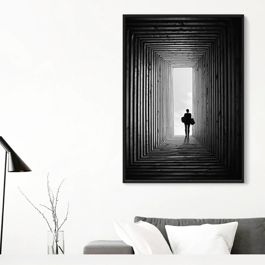Abstract Nordic Black and White Poster Wall Art Fine Art Canvas Prints Minimalist Paintings For Offices Salons Boutique Modern Home Decor