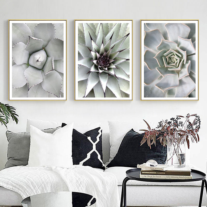 Abstract Nordic Cactus Art Posters Fine Art Canvas Prints Natural Home Decor Paintings Pictures For Modern Living Room Kitchen Art Posters