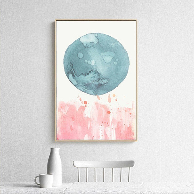 I Abstract Colorful Watercolor For Art Print Home Decor Wall Art Poster