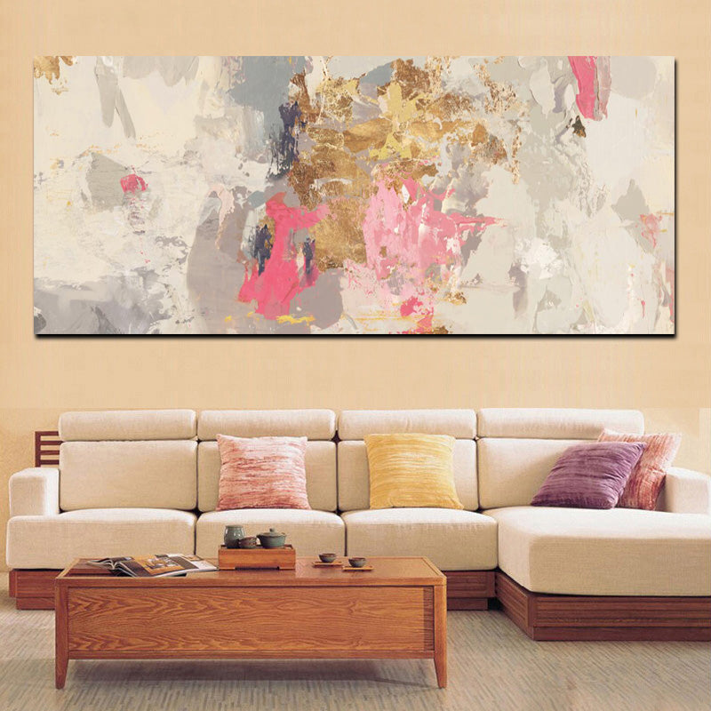 Abstract Pink Gray Modern Wall Art Fine Art Canvas Prints Contemporary Nordic Pictures For Office Or Living Room Bedroom Wall Art Decoration