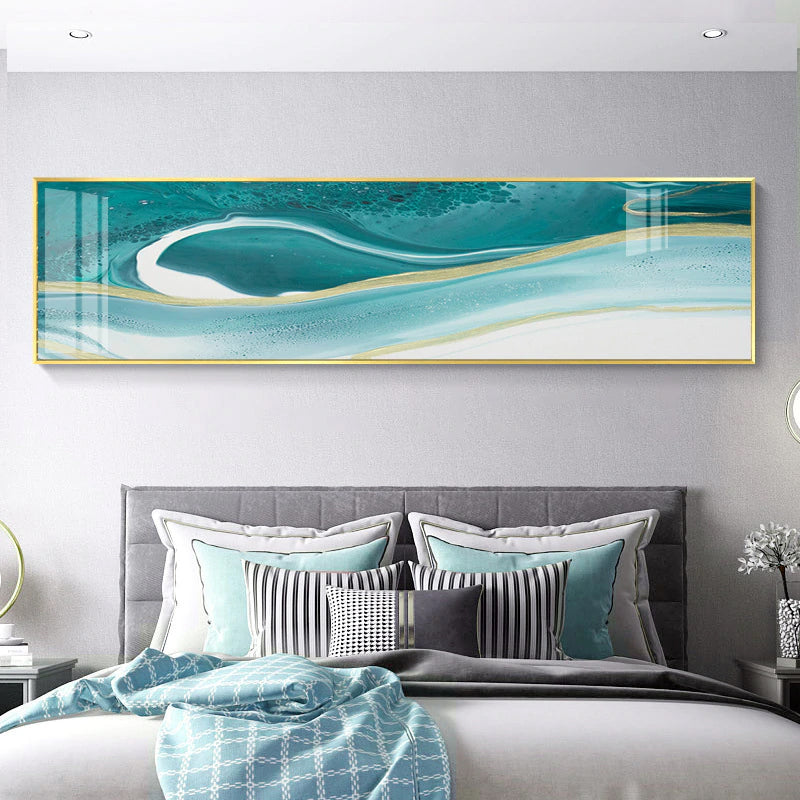 Abstract Pink Marble Wall Art Wide Format Fine Art Canvas Prints Modern Panoramic Pictures For Above Bed Bedroom Art Living Room Sofa Wall Decor