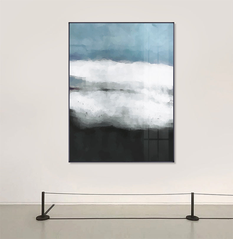 Abstract Shades Of Blue Black Wall Art Fine Art Canvas Prints Modern Boutique Pictures For Living Room Dining Room Comtemporary Home Decor