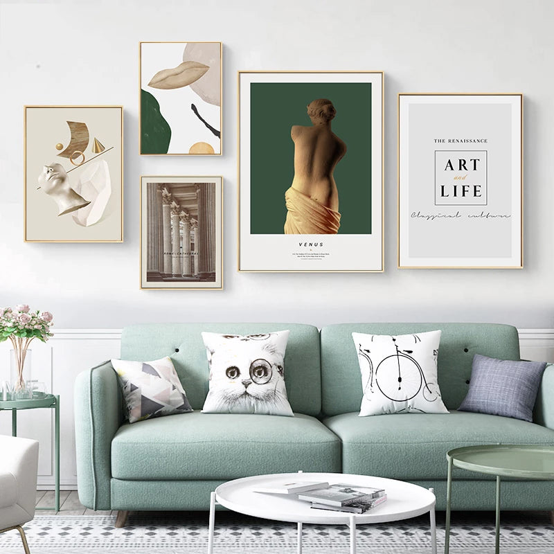 Abstract Venus Renaissance Modern Gallery Wall Art Fine Art Giclee Canvas Prints Nordic Style Pictures For Living Room Bedroom Home Decor