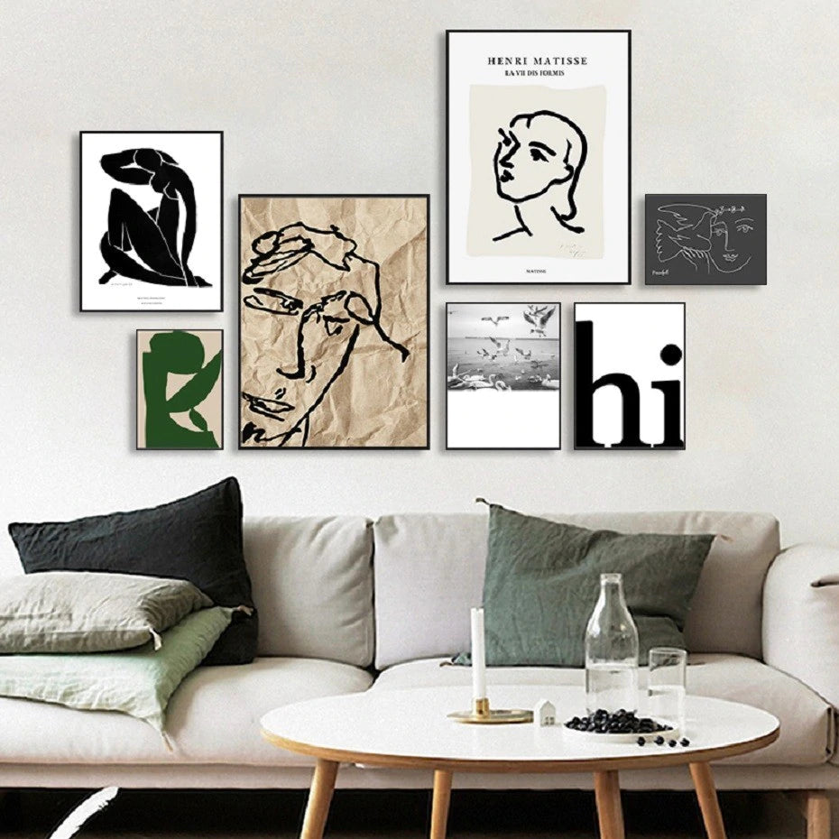Abstract Vintage Collection Matisse Gallery Wall Art Fine Art Canvas Prints Nordic Style Pictures For Living Room Dining Room Modern Home Decor